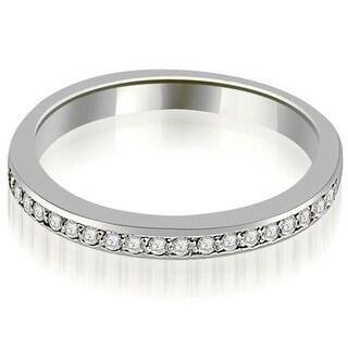 0.20 ct.tw 14K White Gold Prong Set Round Diamond Wedding Band
