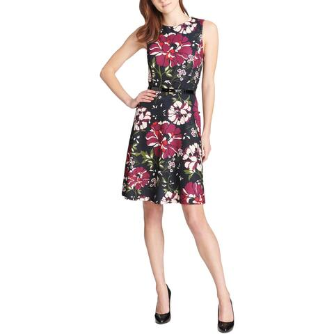 Tommy Hilfiger Womens Scuba Dress Sleeveless Floral - 2