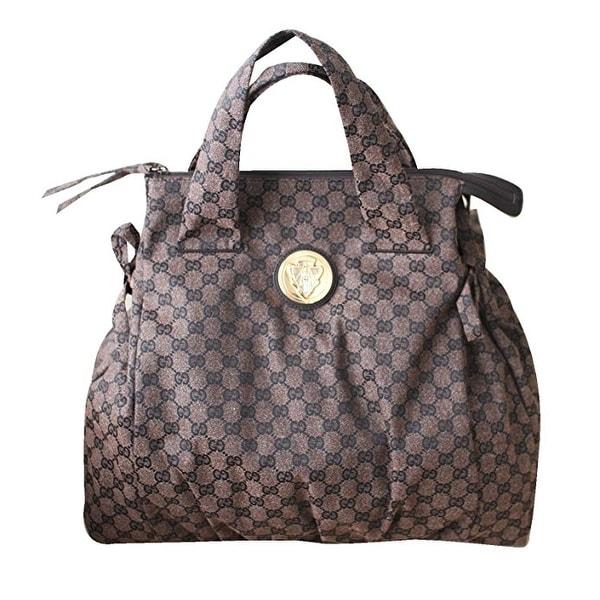 Gucci Brown Canvas Hysteria Top Handle Tote Bag