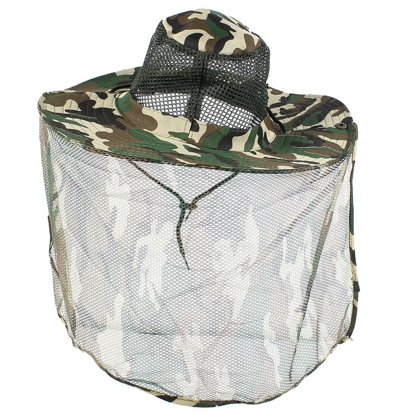 72106a378e687 Unique Bargains Men Women Full Brim Nylon Hiking Fishing Cap Sun Hat Mesh  Veil Hooded