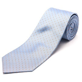 Luciano Barbera Men's Slim Silk Neck Tie Light Blue Orange