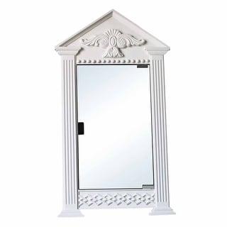 White Urethane Corner Medicine Cabinet, Premium Mirror, Ready To Paint Wall Mount  Medicine Cabinet