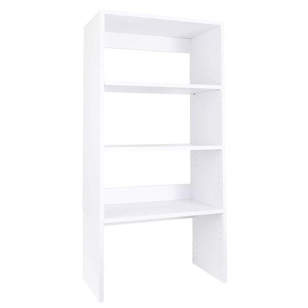 "Modular Closets 36"" Tall Wood Shelf Tower Closet Organizer Section"