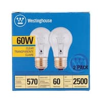Westinghouse 450500 60 Watt Clear Light Bulb