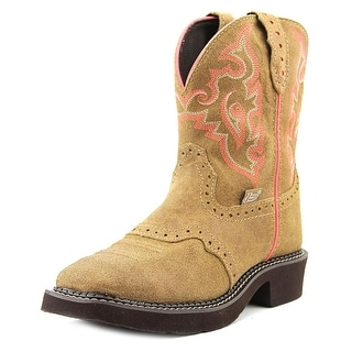 Justin Gypsy L9604 Women Square Toe Leather Tan Western Boot