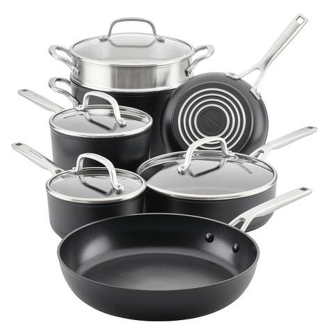 KitchenAid Hard-Anodized Induction Nonstick 11-Piece Cookware Set - 11 Pc