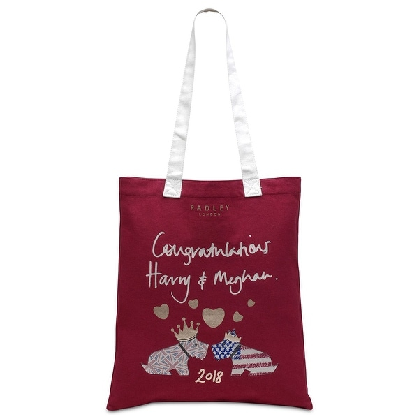 ec68619445 Shop Radley London Royal Wedding Large Cotton Tote Bag Claret - One ...