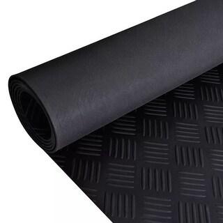 vidaXL Rubber Floor Mat Anti-Slip 16' x 3' Checker Plate