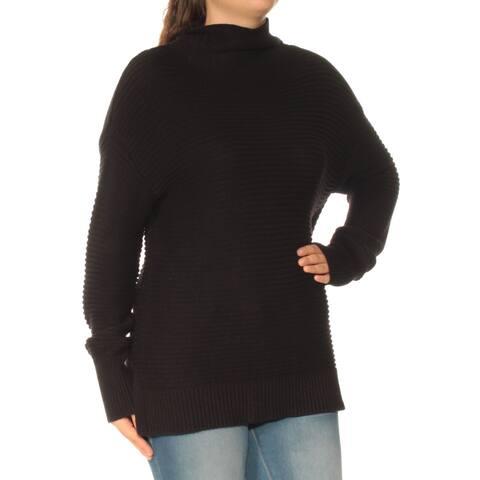 DKNY Womens Black Long Sleeve Turtle Neck Sweater Size: XS