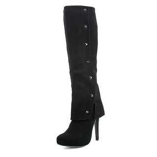 Nina Gage Pointed Toe Synthetic Knee High Boot