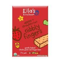 Ella's Kitchen  - Apples & Strawberries Nibbly Fingers ( 12 - 4.4 OZ)