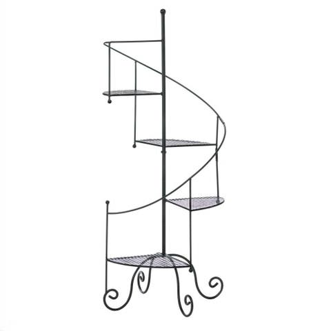 Black Helix Plant Stand