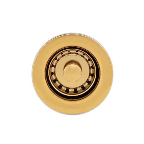 "Premier Copper Products D-133PB 2"" Bar Basket Strainer Drain - Polished Brass"