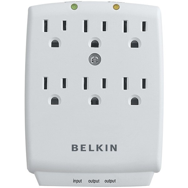 Belkin F9H620-Cw 6-Outlet Wall-Mount Surge Protector