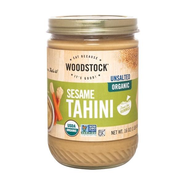 Woodstock Organic Tahini - Unsalted - Case of 12 - 16 oz.