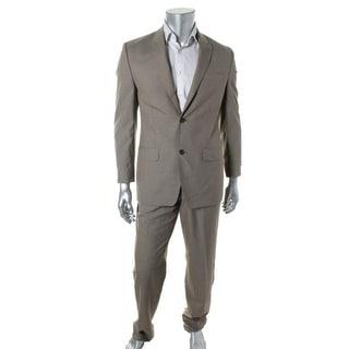Sean John Mens Pattern 2PC Two-Button Suit - 46L