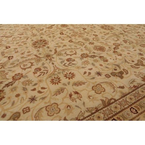 Hand Knotted Palace Runner 150 KPSI Beige,Maroon Persian Oriental Area Rug Wool Traditional Oriental Area Rug (Palace)
