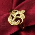 Gold Apple Bottom Design Ring - Thumbnail 2