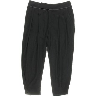 Helmut Lang Womens Blaze Satin Trim Slouchy Dress Pants - 6