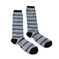 Missoni GM00CMD5218 0001 Purple/Turquoise Striped Knee Length Socks - M