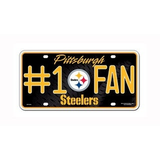 NFL Pittsburgh Steelers Number 1 Fan Metal Auto Tag