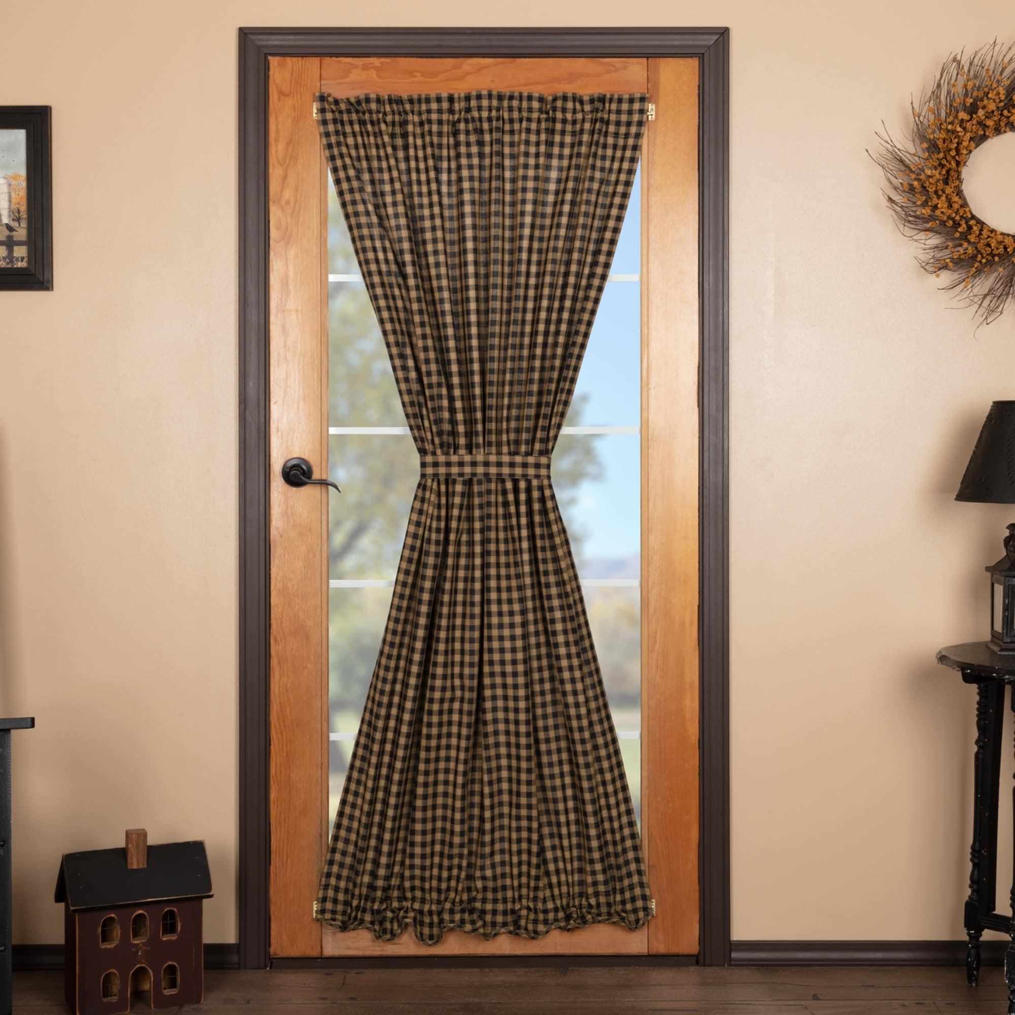 Shop Black Friday Deals On Black Check Door Panel 72x40 Door Panel 72x40 Overstock 26057385
