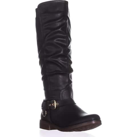 Xoxo Womens Mauricia Closed Toe Knee High Riding Boots