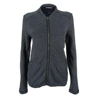 Tommy Hilfiger Women's Metallic Striped Sweater Jacket