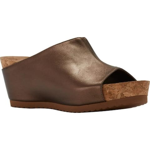 bfedc325d425 Walking Cradles Women s Tiegan Wedge Slide Sandal New Copper Mestico Leather