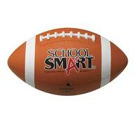School Smart Gradeball Junior Size 6 Rubber Football, Traditional Tan