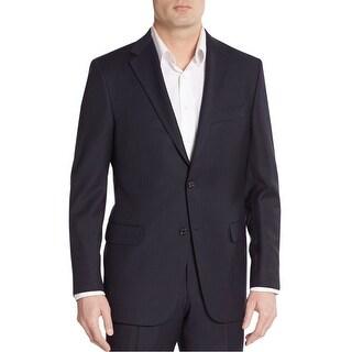 Calvin Klein CK Slim Fit Black Tonal Striped Wool Sportcoat 38 Regular 38R