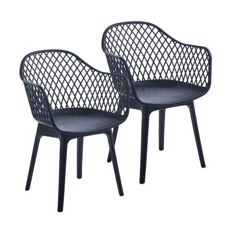 Porthos Home Miro Dining Chairs Set Of 2, Plastic Shell And Legs