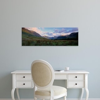 Easy Art Prints Panoramic Images's 'Mountains On A Landscape, Glen Nevis, Scotland, United Kingdom' Premium Canvas Art