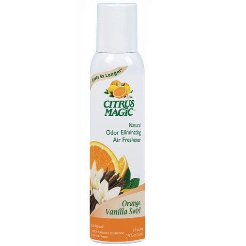 Citrus Magic 612172635-6PK Odor Eliminating Air Freshener Spray, Orange Vanilla Swirl