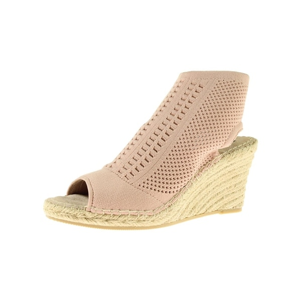 Steven By Steve Madden Womens Evers Wedge Sandals Open Toe Perforated