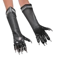 Kids Black Panther Halloween Gloves - Standard - One Size