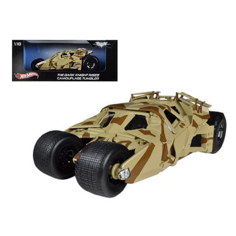 The Dark Knight Rises Batmobile Tumbler Camouflage 1/18 Diecast Car Model by Hotwheels