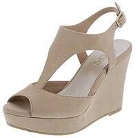 Sadee Brash Women's Wedge Sandal (10 B(M) US, Tan)