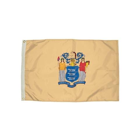 Independence flag 3x5 nylon new jersey flag heading & 2292051