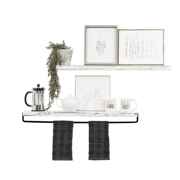 Handmade Del Hutson Designs True Floating Shelf and Towel Rack. Opens flyout.