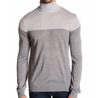 Toscano NEW Gray Shadow Mens Size 2XL Turtleneck Colorblock Sweater