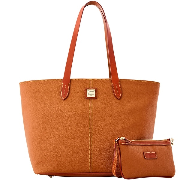 Dooney & Bourke Eva Large Zip Shopper and Wristlet (Introduced by Dooney & Bourke at $268 in Jul 2015) - peanut brittle