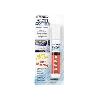 Rust-Oleum 267963 Glass Marker, White