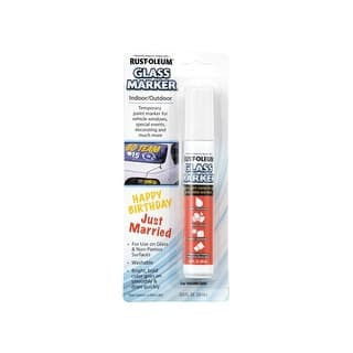 Rust-Oleum 267963 Glass Marker, White|https://ak1.ostkcdn.com/images/products/is/images/direct/8914f61a030db82a74598247a76f98f74265f493/Rust-Oleum-267963-Glass-Marker%2C-White.jpg?impolicy=medium