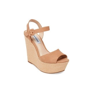 Link to Steve Madden Womens Citrus Leather Open Toe Casual Platform Sandals Similar Items in Women's Shoes