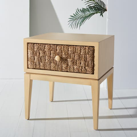 SAFAVIEH Couture Armand Woven Wood Nightstand