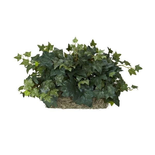 Nearly Natural Ivy Set on Foam Sheet Silk Plant Green