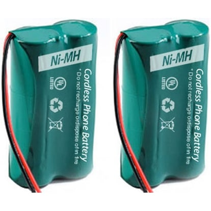 Replacement GE/RCA 6010 Battery for 25425RE1 / 2110-0BSGA Phone Models (2 Pack)