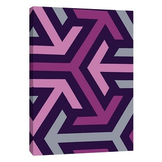 "PTM Images 9-108764  PTM Canvas Collection 10"" x 8"" - ""Monochrome Patterns 8 in Purple"" Giclee Abstract Art Print on Canvas"