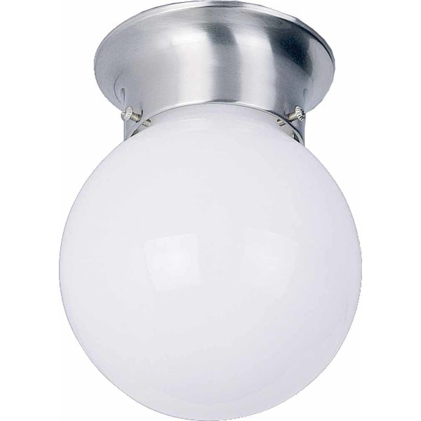 "Volume Lighting V7309 1 Light 6"" Flush Mount Ceiling Fixture with White Opal Gla"